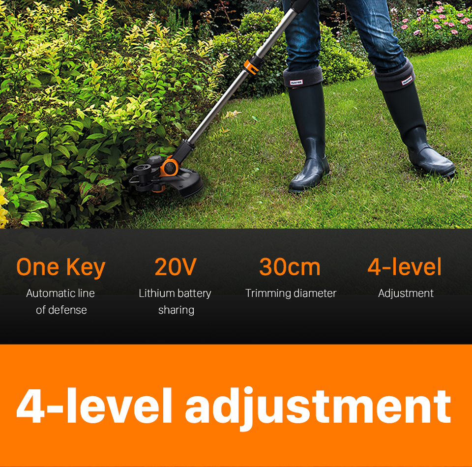 Worx Trimmer 4 level Adjustment