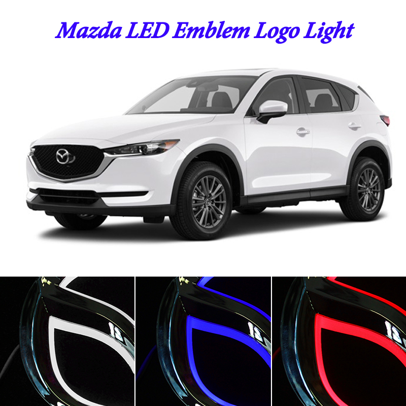 5D Car Styling led emblem Badge Logo Light for mazda 6 gg gh mazda 3 <font><b>bl</b></font> cx5 cx-6 cx-3 rx8 cx 7 LED Emblem Badge Logo Light image