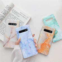 цена Marble Case For Samsung Galaxy S8 S9 S10 Plus S7 Edge Soft IMD TPU Back Cover Coque For Samsung S10E s10 lite Phone cases