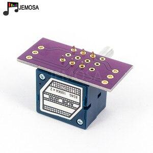 Image 2 - 1PC יפן האלפים RK27 נפח יומן סטריאו פוטנציומטר 2 כנופיה כפולה 10 K/20 K/50 k/100 K/250 K פוטנציומטר מוט מחורץ + PCB