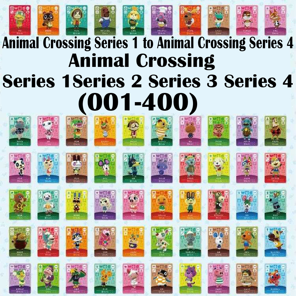 English Version (001 To 400) Series 1 To Series 4 Animal Crossing Card Amiibo Card Work For NS Games (001 To 400) Free To Choose