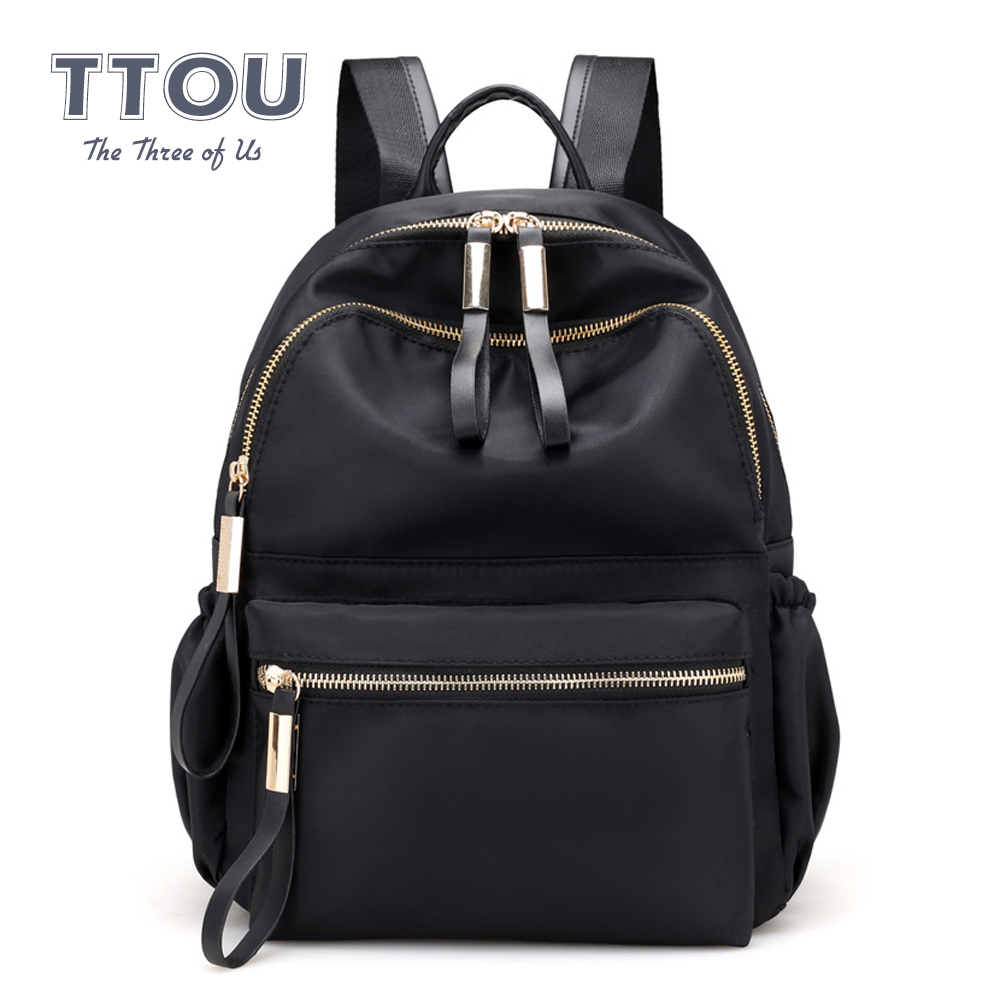 TTOU Fashion Women Black Backpack Female Youth Backpacks For Teenage Girls Women School Shoulder Bags Student College Bookbag