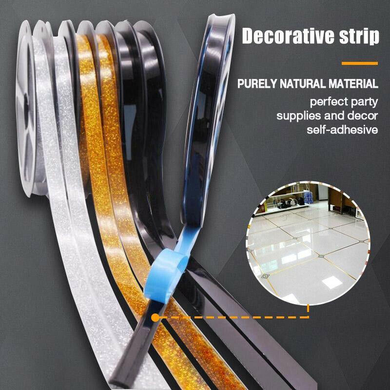 Mildewproof Gap Tape Seam Line Ceramic Tape Self Adhesive Waterproof Tile Wall Floor Crevice Line Sticker Edges Decoration Tape