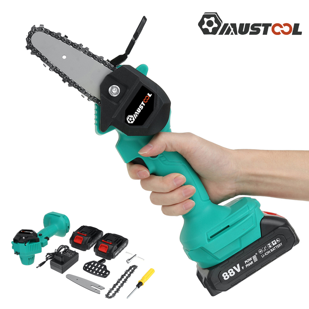 Chain MUSTOOL Garden Pruning 88V Tools Makita Logging Saw For Power Cordless Rechargeable Mini Woodworking Electric Saw Battery