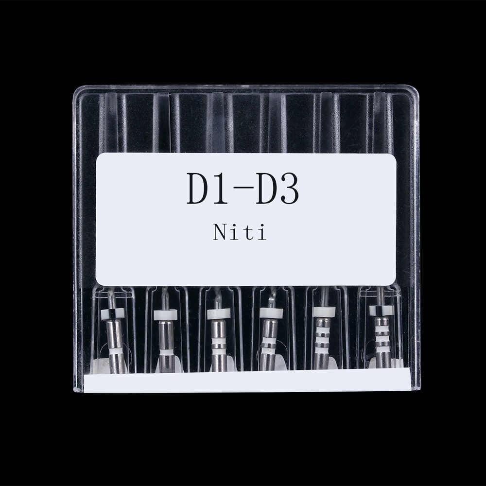 6 шт./кор. нити файл D1-D3 Стоматологическая реобработка корневого канала двигателя
