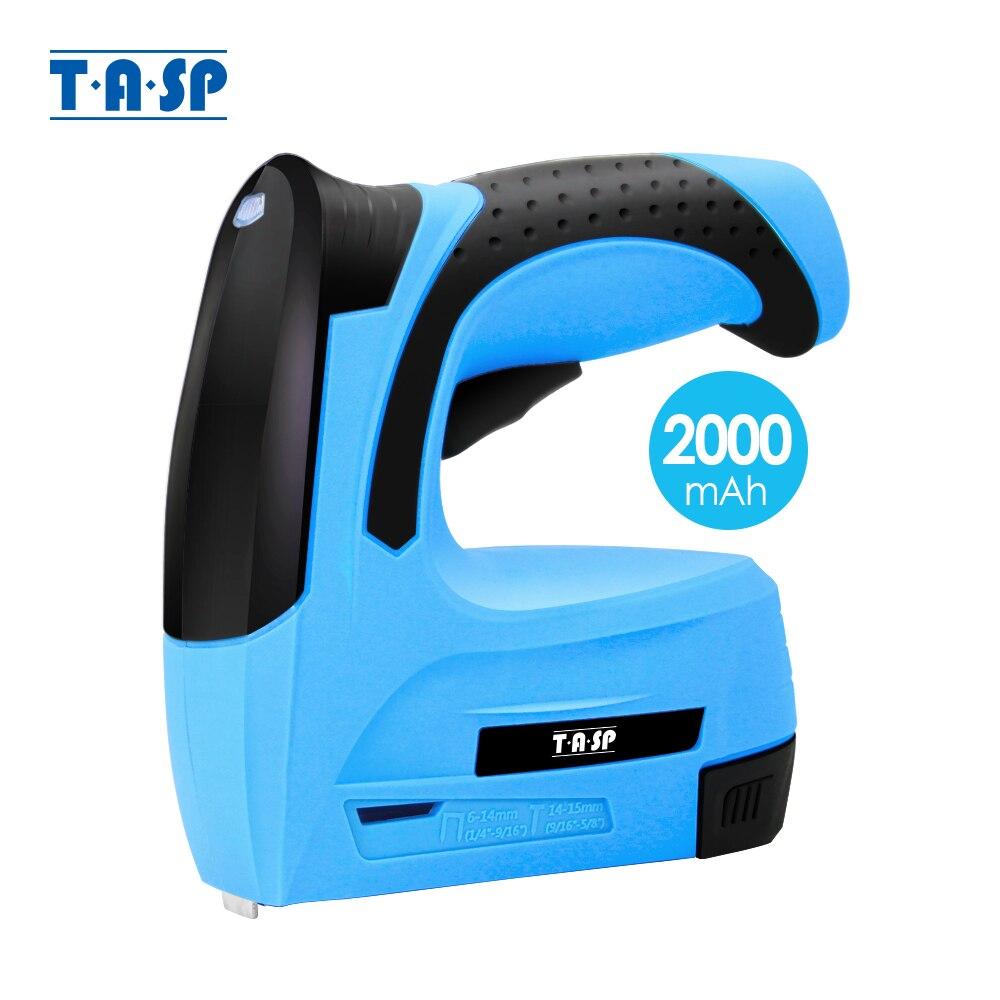 TASP 3 6V Stapler Electric Cordless Staple Gun Rechargeable Lithium Battery 2000mAh Portable Furniture Nail Gun Woodworking Tool