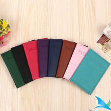 Simple Bright Leather Color Passport Bag Cover Multi functional Document Protective Cover