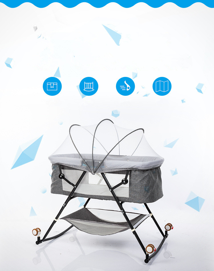 H37ba864ba38441b180a1273908cea46fz Travel bed easy fold sleeping next Baby Nest Crib Portable Removable rocking chair Travel Bed For Children Infant Kids basket