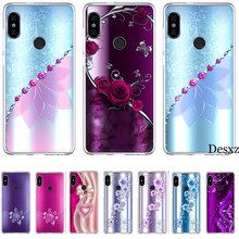 Mobile Phone Case For Redmi 7A K20 7 GO 4 Prime 3S 3 4 Pro 4A 4X 5 5A Plus 6 6A Pro Hard Cover Crystal Rhinestone Flower(China)