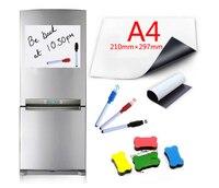A4 サイズドライワイプ磁気ホワイトボードペンビニール冷蔵庫ホワイトボード冷蔵庫マグネットメモ柔軟な思い出させるメッセージボード|ホワイトボード|   -
