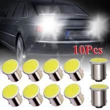 10 pces sinal do carro luz de estacionamento 1156/1157 p21w led 12v led cob placa de licença do carro indicando 1156 lâmpada auto led farol feixe