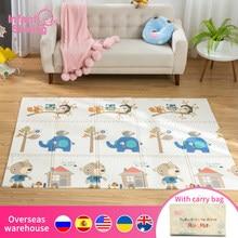Almofada de espuma para bebês, almofada dobrável portátil 150X200x1CM para bebês, esteira cobertora para engatinhar com espuma XPE insípida