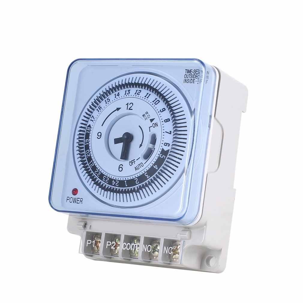 Temporizador mecánico 230V temporizador 15min 24h cocina cuenta atrás controlador de ahorro de energía interruptor de sincronización Industrial