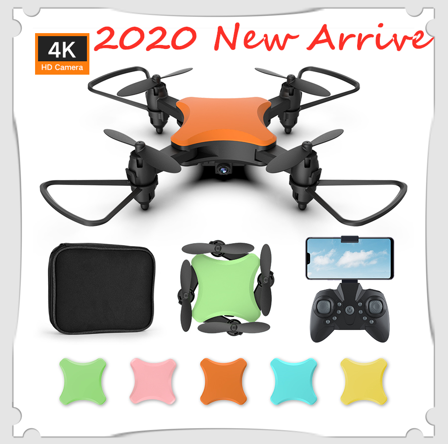 Mini Drone Quadcopter With 4K Camera HD Foldable Drones One-Key Return FPV RC Helicopter Quadrocopter Toys