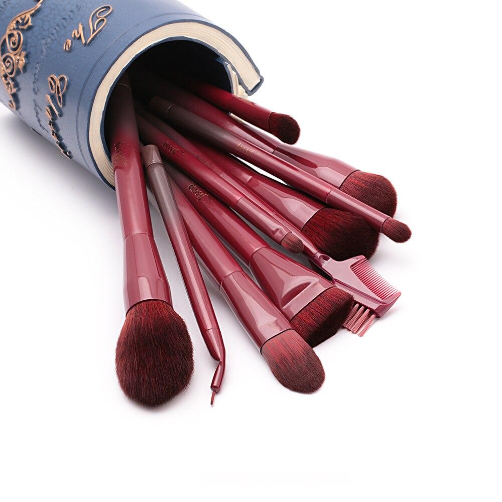 Image 5 - Jessup Brushes Winered 15pcs Makeup Brushes Set Powder Foundation Eyeshadow Eyeliner Lip Contour Concealer  T251makeup brush setbrush set15pcs makeup brush set -