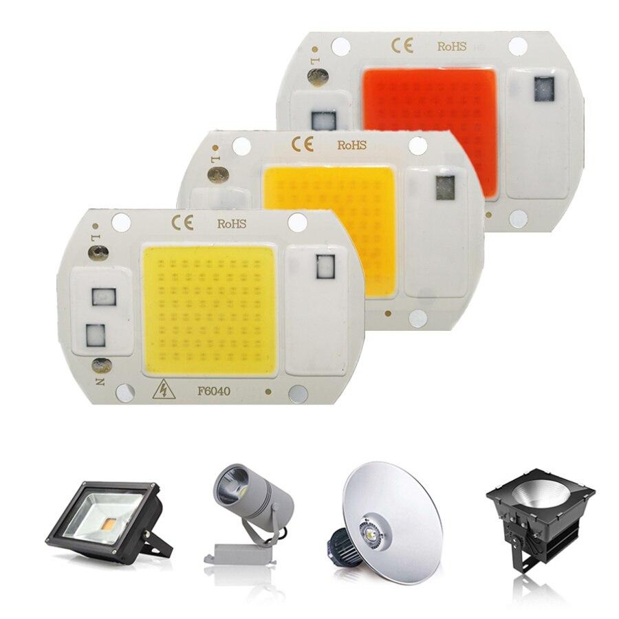 LED COB Chip Diode AC 220V 3-9W 10W 20W 30W 50W For Rectangular Light Matrix Lamp Ampoule Spotlight Plant Growth Lamp