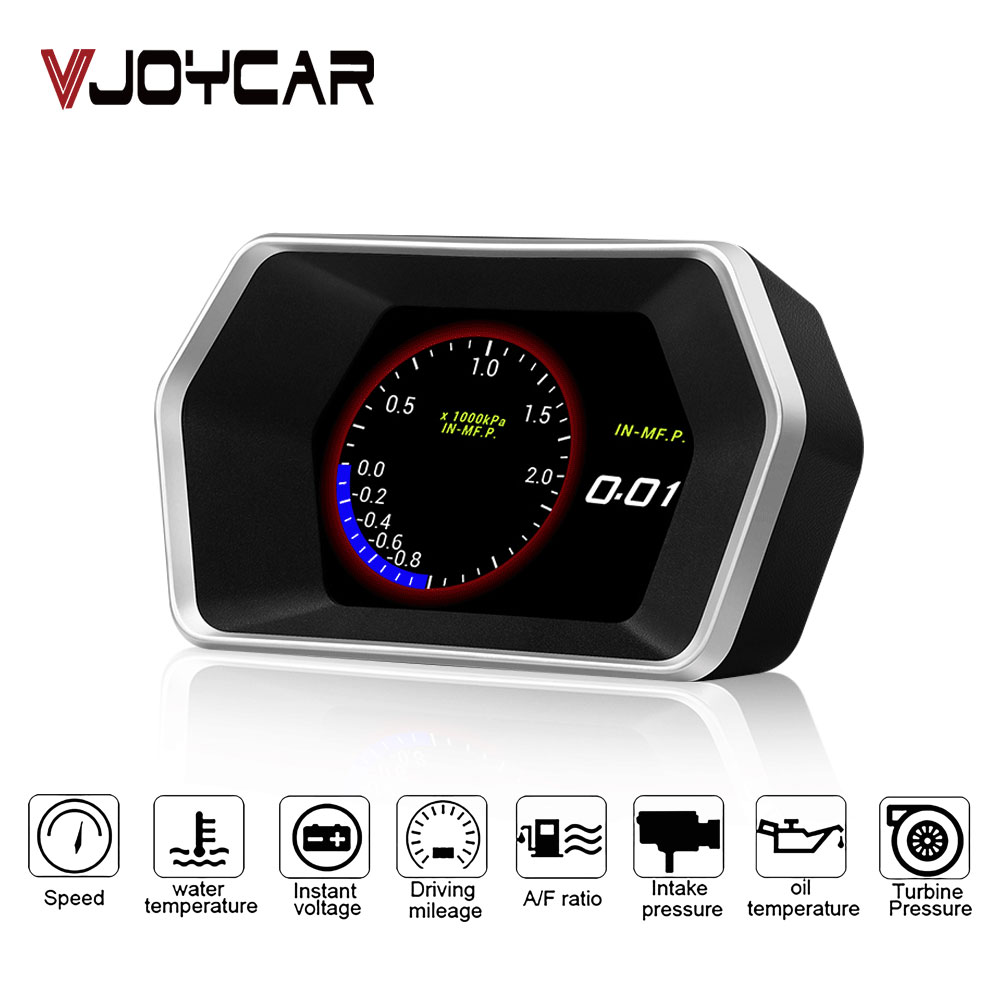 Head-Up Display OBD II GPS Speedometer 2 In 1 P17 Car HUD On-board Computer Security Alarm For All Vehicles