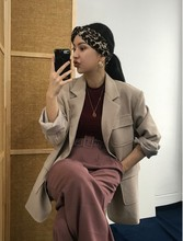 2019 New Suit Casual Atmosphere Multiple Pocket Single Row Buckle Jacket Breasted Clothes Black Women Jackets and Coats