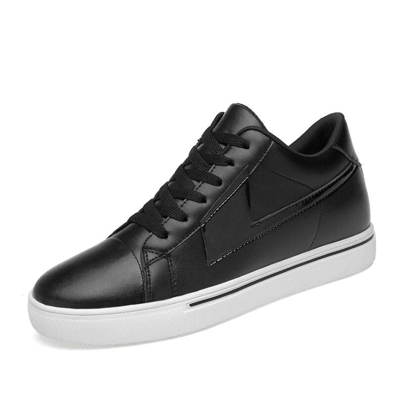 Мужская официальная обувь; зимняя мужская модельная обувь; брендовая мужская кожаная обувь; Мужская классическая деловая обувь; большие размеры 39-44% 18789 - Цвет: Белый