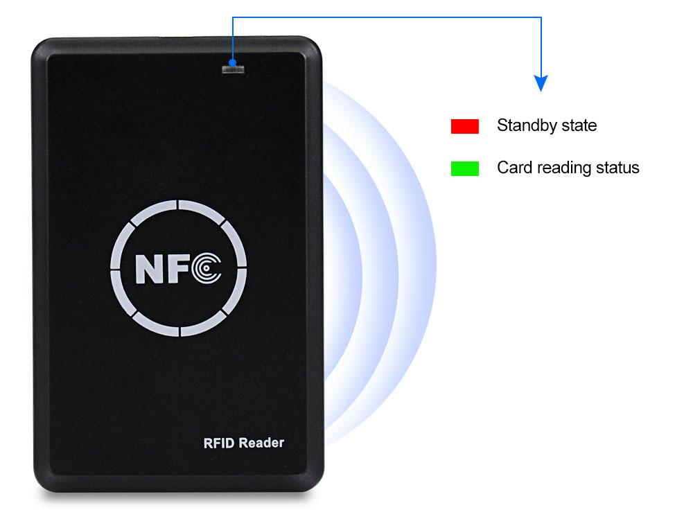 H37bb2773d43c475c9c88eb4639dc2b0bJ RFID Copier Duplicator 125KHz Key fob NFC Smart Card Reader Writer 13.56MHz Encrypted Programmer USB UID T5577 EM4305 Cards Tags