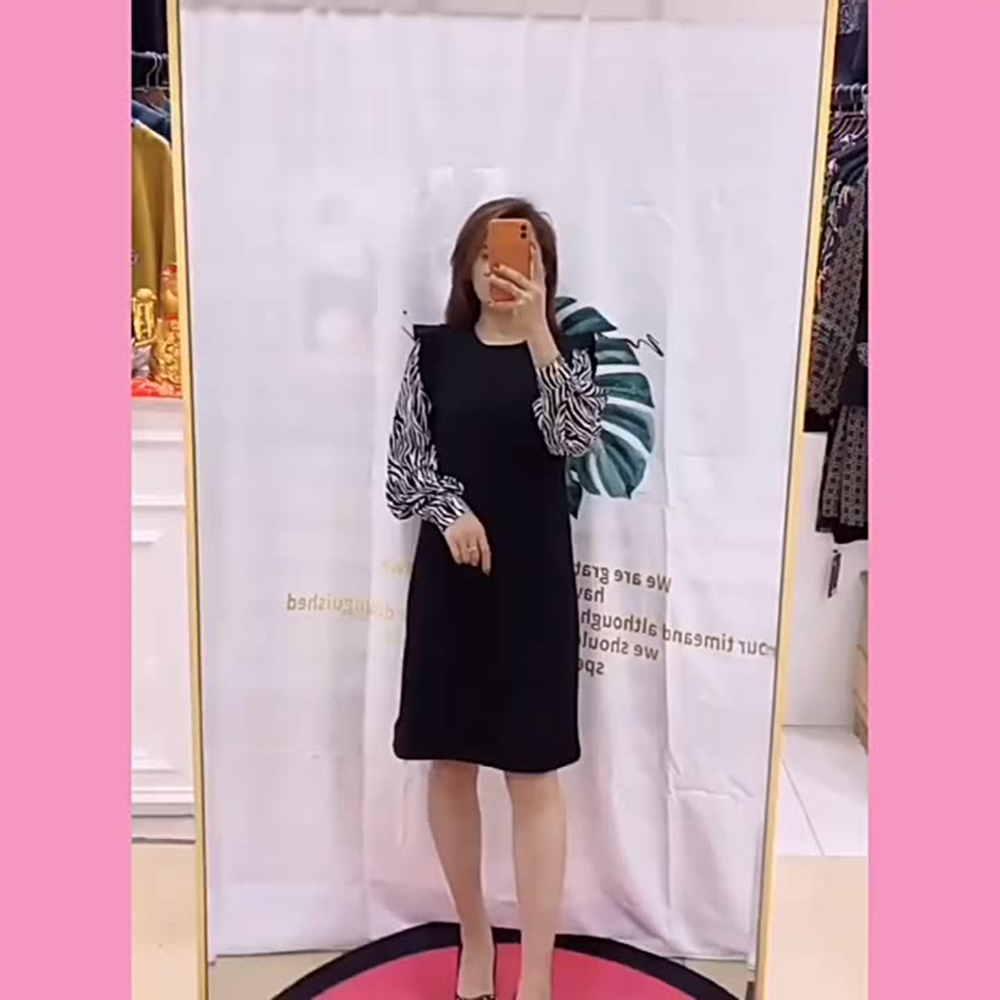 Winter Dresses For Women 2021 New Fashion Loose Korean Style Plus Size Matching Space Cotton Striped Full Sleeve Woman Dress 4XL