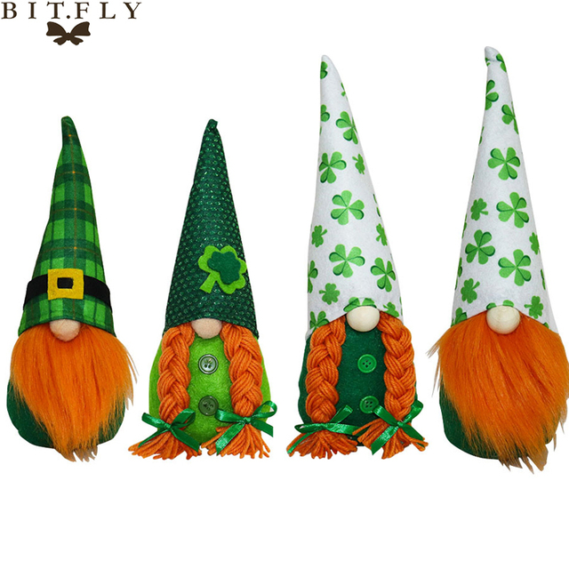 Clovers Faceless Gnome Doll Happy Saint Patrick's Day Decor For Home Table Ornaments St. Patricks Gift Irish Party Supplies 1