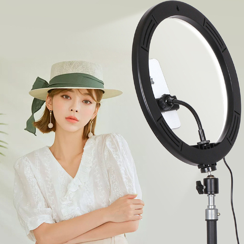3 Colors Dimmable 12inch LED Selfie Ring Light photography Lamp Photo Video Camera Phone ringlight For Live YouTube Fill Light