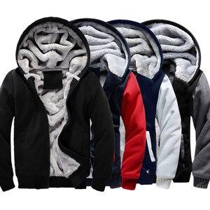 Image 2 - Hoodies dos homens inverno quente jaqueta moda grossa masculina com capuz moletom masculino pele quente roupas de treino dos homens casaco S 5XL tamanho
