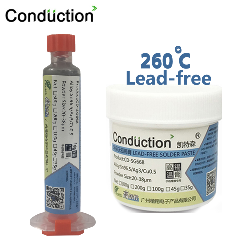 Syringe Liquid Flux BGA  Free-Lead Solder Paste Welding Tool High Temperature Melting Point 260C Tin Solder Paste 10cc No-clean