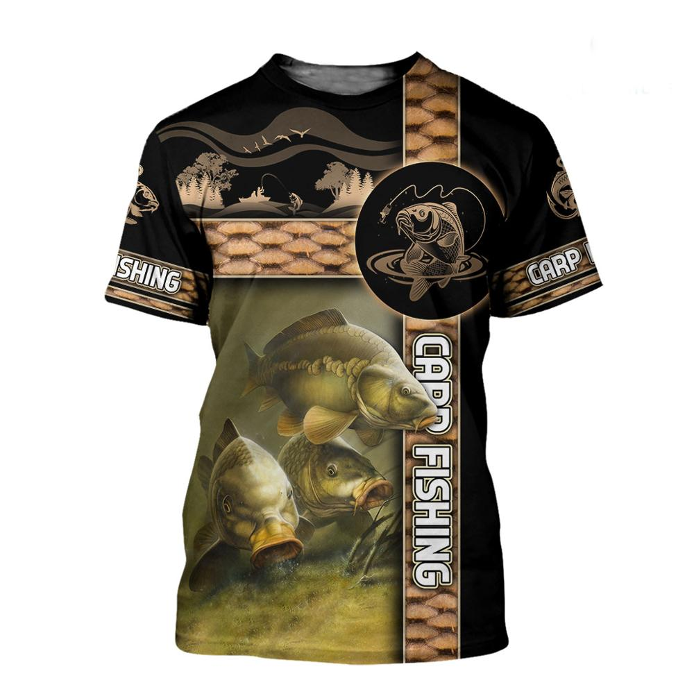 Recreational Fishing carp 3D All Over Print men t shirt Harajuku Fashion Short sleeve shirt summer street Unisex tshirt LY-003