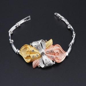Image 5 - Di modo Africano Set di Gioielli di Marca Dubai Argento Placcato la Collana di Cristallo Dei Monili Degli Orecchini Set Nigeriano di Perle Da Sposa Insieme Dei Monili