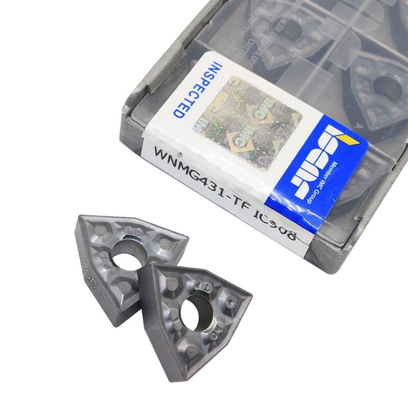10PCS WNMG080404 TF IC908 External Turning Tools Carbide Insert Lathe Cutter Tool Tokarnyy Turning Insert