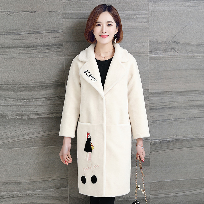 Fur Women's Coat Winter Jacket Women 2020 Natural Sheep Shearing Fur Coats Long Warm Real Wool Jackets Overcoat 925LW825 S S