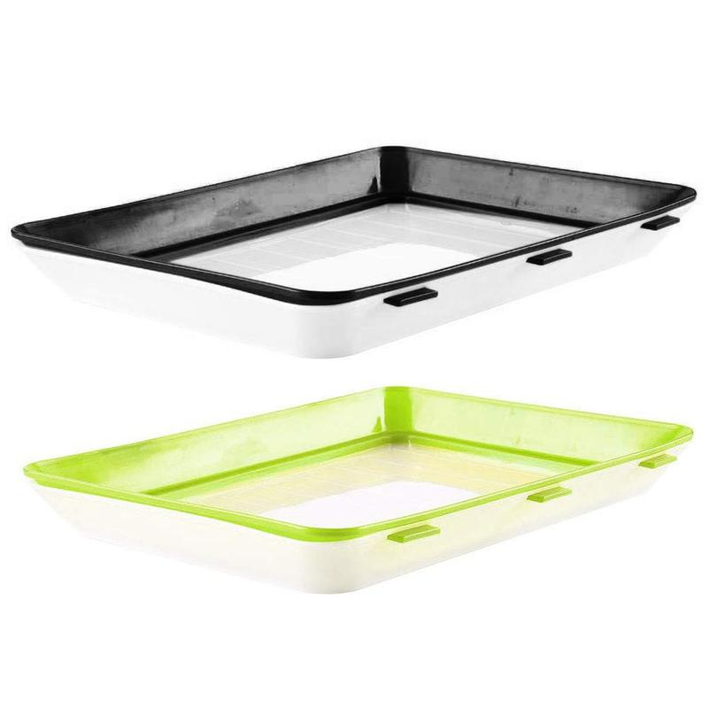 1 PCS Black and Green 30*22cm Healthy Fresh Food Storage Preservation Tray Storage Container Set Kitchen Tools