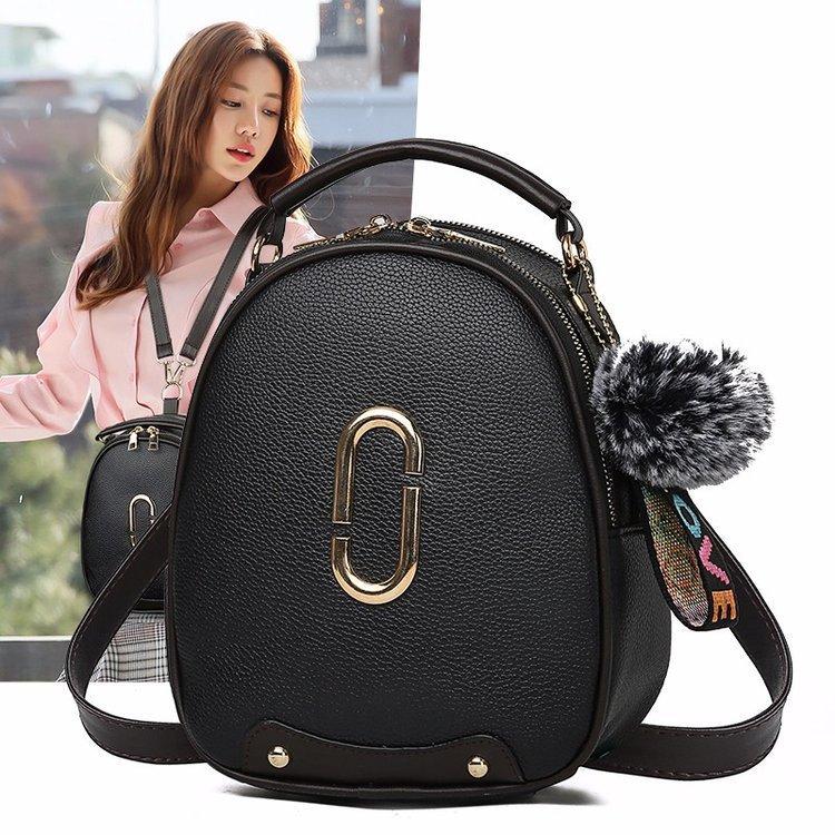 Bag Women's 2019 New Style Fashion Sweet Ladies' Bag Messenger Bag Hand Triple Use Shopping Backpack