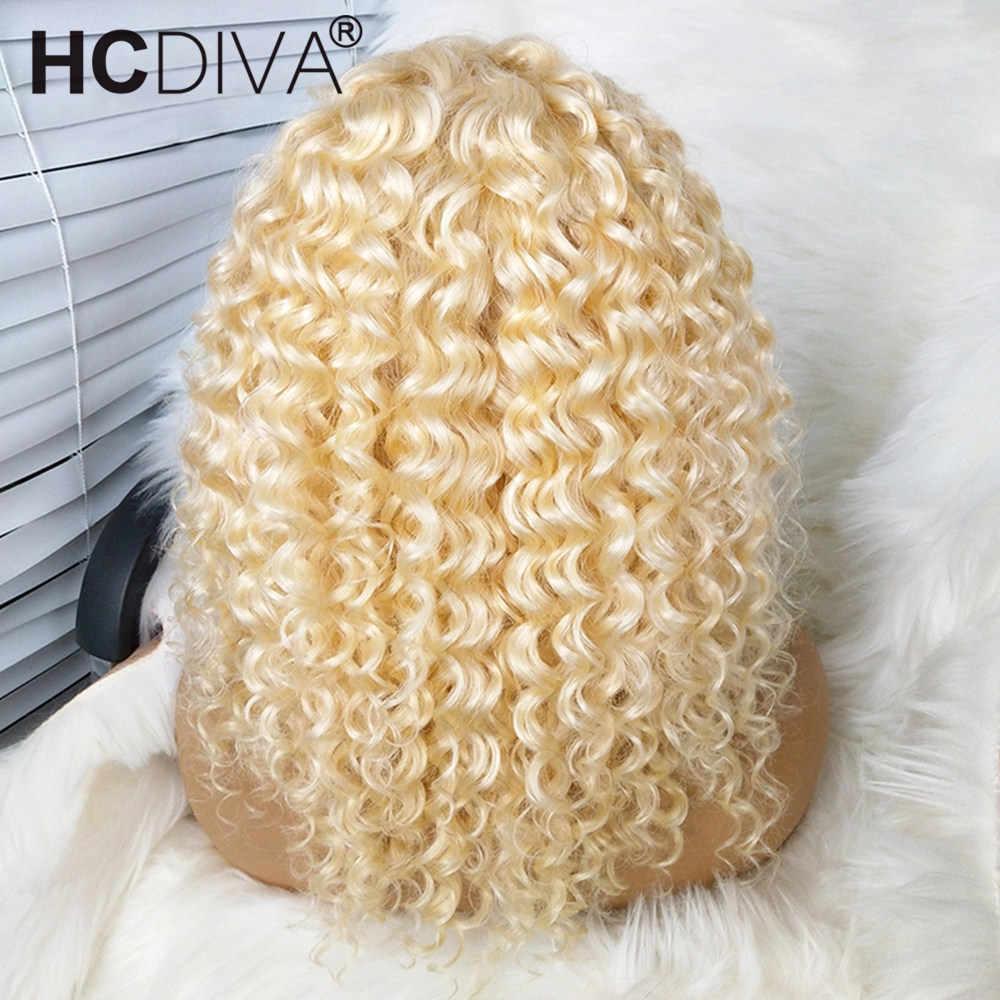 613 peruka z mocnymi lokami 13x4/360 koronkowa peruka na przód brazylijski Remy ludzki włos peruka dla czarnych kobiet przezroczysta koronkowa peruka na przód wstępnie oskubane