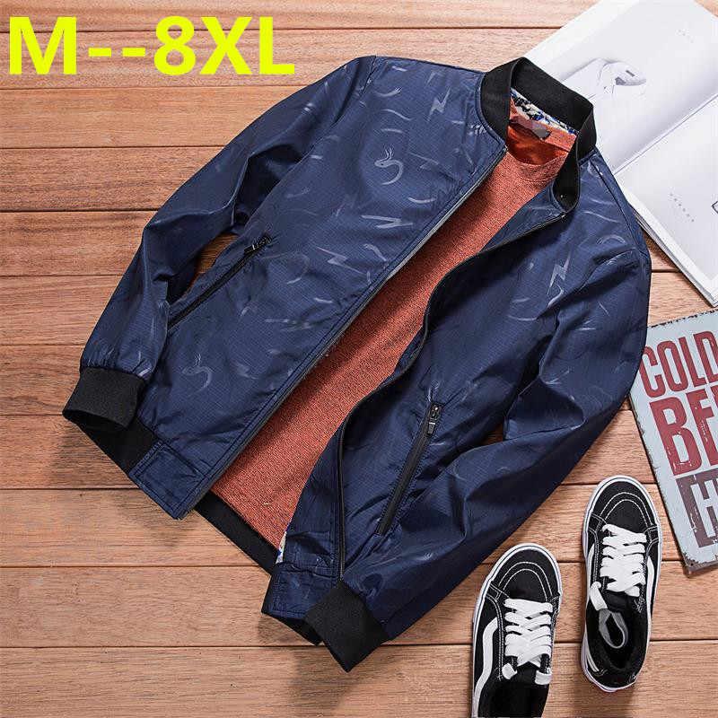 Plus größe 10XL 9XL 8XL 6XL 5XL 4XL männer windjacke Bomber polo jacke neue mantel casual outwear herren Jacken und mäntel