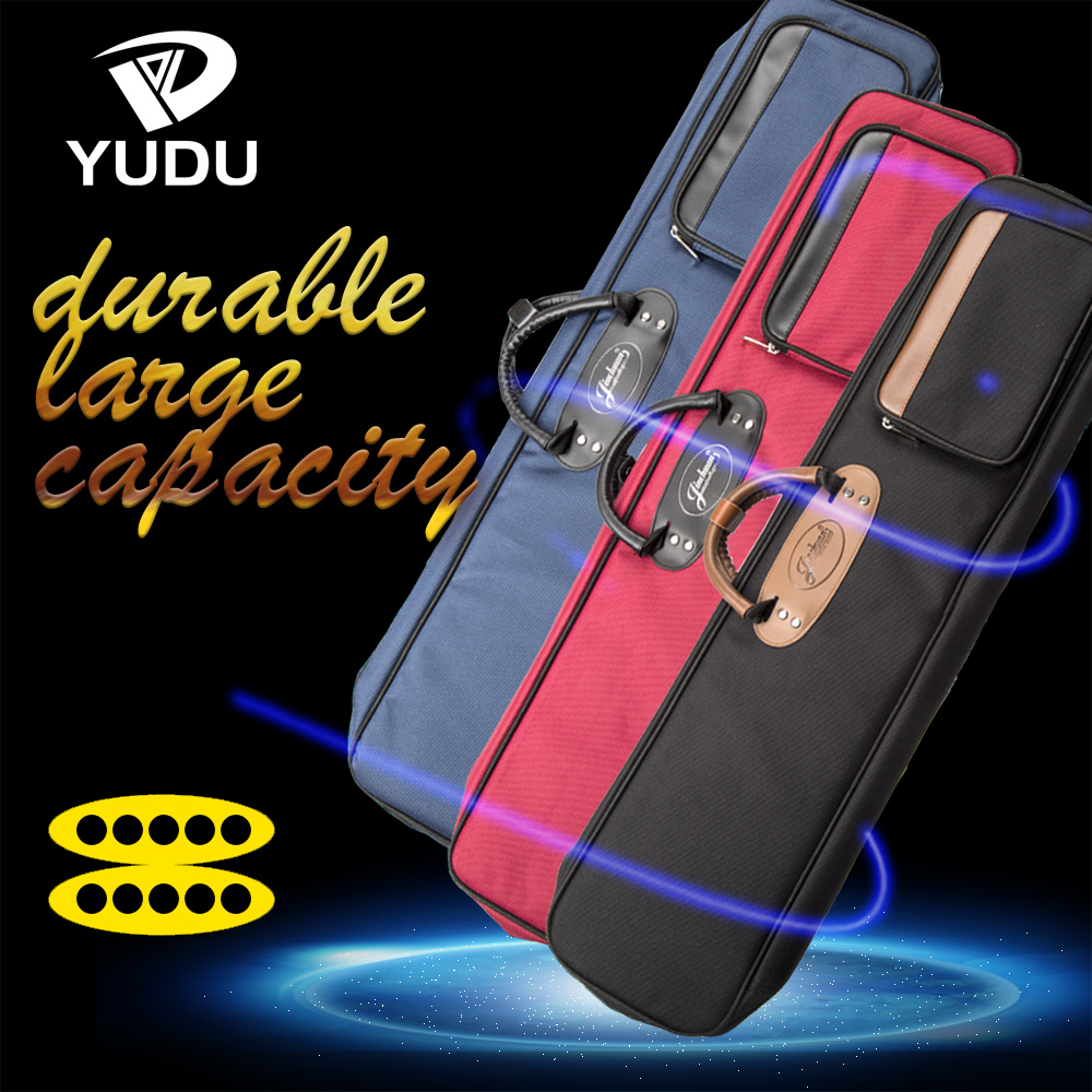 Pool Cue Case 10 Holes Black/Blue/Red Colors High Quality Carrying Case Durable Kit Bag Professional Billiard Stick Accessories