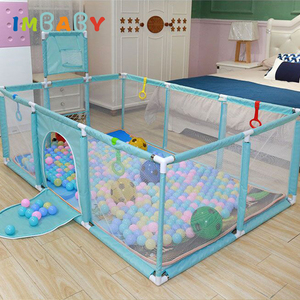 IMBABY Playpen for Children Ball Pool Park for Baby Bed Fence Playpen Kids Playgound Fence for Newborn Baby Child Safety Barrier