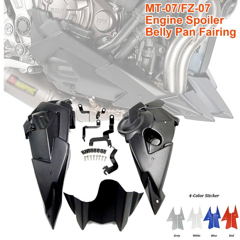 2020 новая мотоциклетная обувь двигатели спойлер живот Пан нижний обтекатель Монтажный кронштейн для Yamaha MT-07 MT07 FZ07 FZ-07 2014-2019 MT FZ 07
