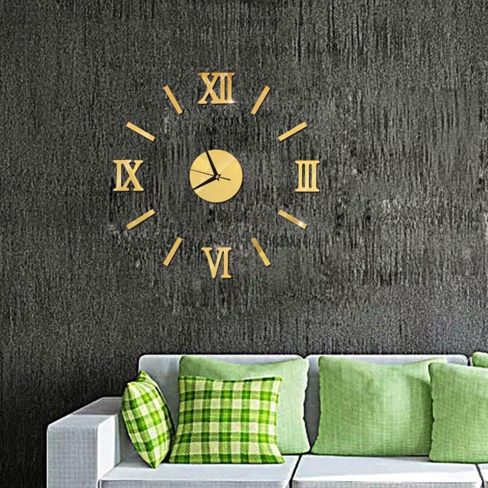 3D Wall Clock Mirror Wall Stickers Fashion Living Room Quartz Watch DIY Home Decoration Clocks Sticker reloj de pared 13