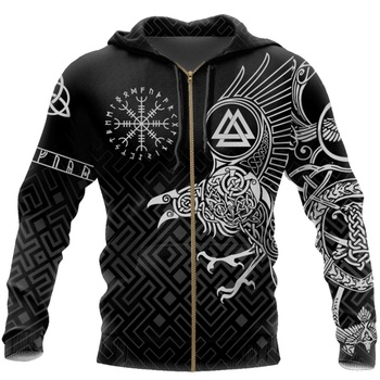 New Viking Tattoo 3D Printed Men for women hoodies Harajuku Fashion Hooded Sweatshirt Autumn Unisex Street hoodie drop shipping