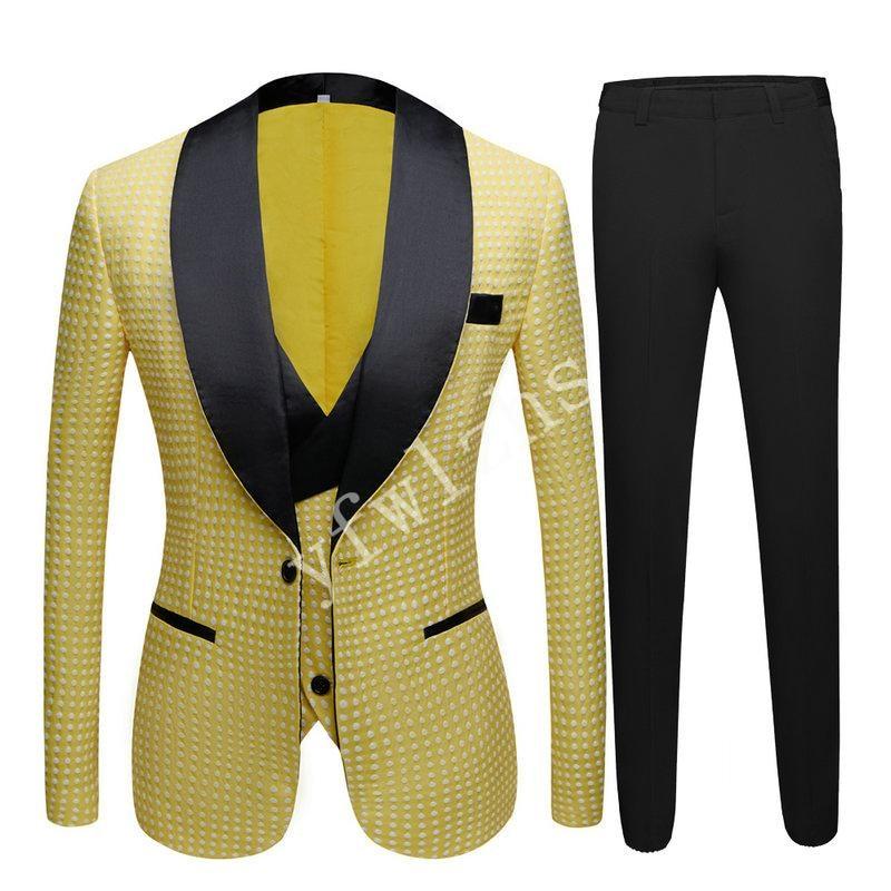 New Arrival One Button Groomsmen Shawl Lapel Groom Tuxedos Men Suits Wedding/Prom Best Man Blazer ( Jacket+Pants+Vest+Tie) B72