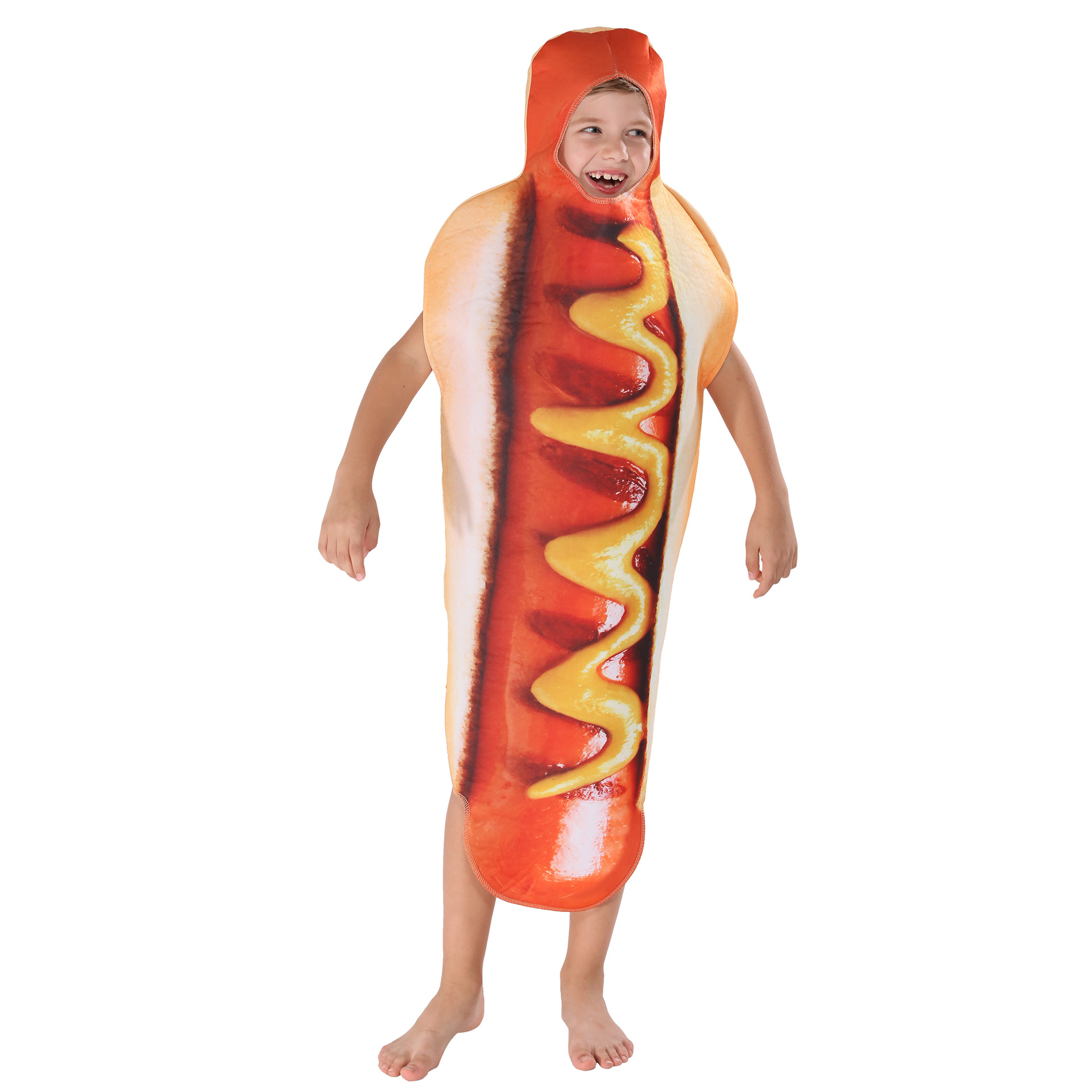 SOURCE 3D Colour Printing Kids Hot Dog Set One-piece Food Stage Character Cosplay Costume
