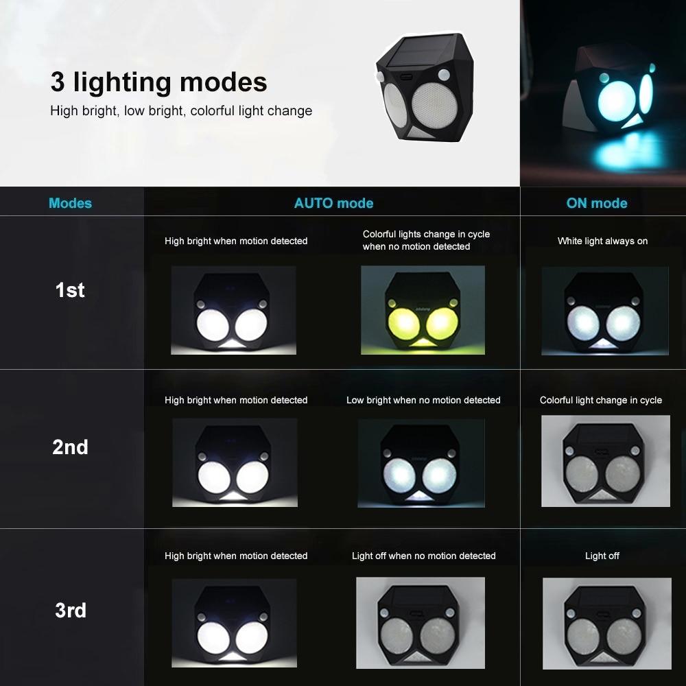 livre sensor de movimento rgb lâmpada dupla