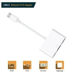 Typu C do RJ45 sieci Ethernet Lan Adapter 10/100Mbps adaptera do ipada Pro laptopa Macbook telefon