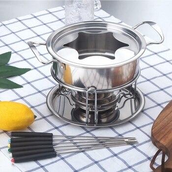 10-Piece Set Multifunzionale In Acciaio Inox Gelato Al Cioccolato Formaggio Piatto Caldo Melting Pot Fonduta Set Accessori Da Cucina