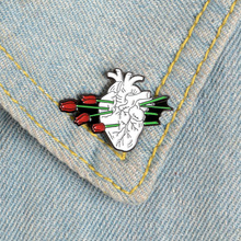 Creative cartoon badge flower heart brooch enamel needle personality denim badge brooch clothes bag accessories creative personality gestures alloy brooch enamel pin mini badge bag clothes jewelry gifts to friends fxm