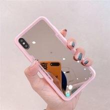 Gimfun-funda de TPU con espejo para iphone, protector de silicona suave a prueba de golpes, para iphone 12 11 Pro XS MAX XR X 7 8 6s plus