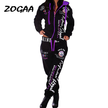 ZOGAA 2020 Tracksuit For Women S-3XL Brand Womens Casual Sportwear Hooded Sweatshirt and Pants sweat suit tracksuit set